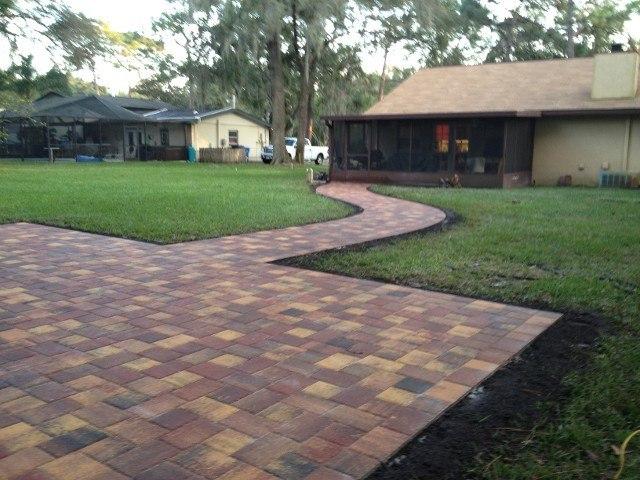 paver stone walkway