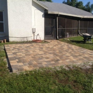 walkways with pavers