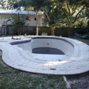 pool with pavers