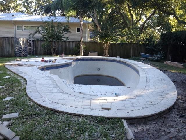 pool with pavers