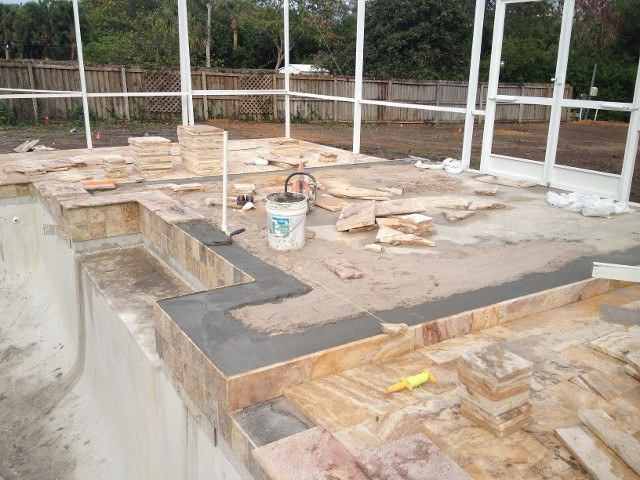 paving around pool